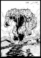 MAN-THING Penciling by LAK ink by me by jbellcomic
