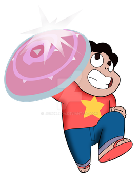 Steven Universe And His Shield by jomzojeda
