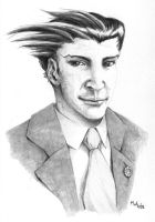 Phoenix Wright portrait by LynxGriffin