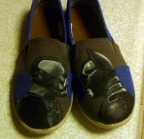 Batman Shoes by HannahBanna