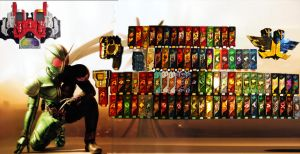 Kamen Rider W Gaia Memory Collection by Digger318