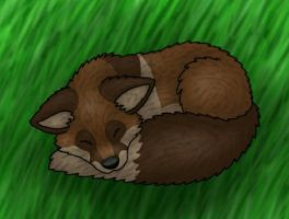 Sleepy Foxy by Tienala