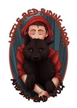 Little Red and BigBad Wolf by spider999now
