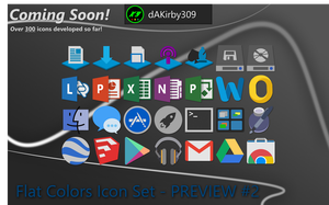 Flat Colors Icon Set - PREVIEW #2 by dAKirby309