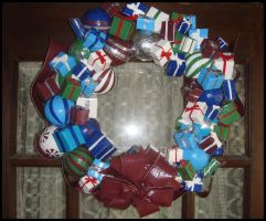Ornament and Present Wreath by DuckTapeBandit