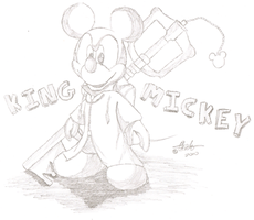 King Mickey Sketch Paper by CarnationRose