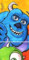 Monsters Inc Sketch Card Set by Fellhauer