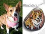 Custom Corgi Pendant Necklace by sobeyondthis