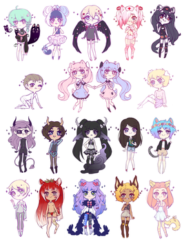 . : chibi batch : . by prince-no