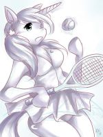 Luna Plays Tennis by ze-tta