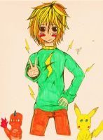 Pikachu's Human Form by Someone-that-is-me