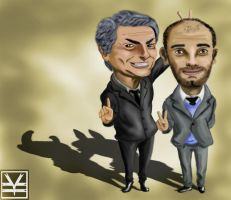Mourinho VS Guardiola by Joouheika