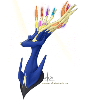 Day 5 - Xerneas by Ankaa-C