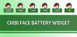 Chibi Face Battery Widget by KakashiHatake88