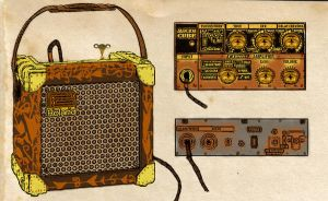 Steampunk roland micro-cube by ClockWorkButcher