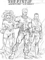 The Fist of Justice-league by artistjoshmills