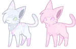 SOLD Candy Floss Feline Adopts by ChezuAdoptables