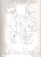 baby tails and baby sonic by tailslover42