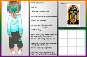 Character Sheet- Ellis Butler by Swim2theSun