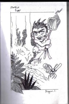 Achaea chasing butterflies by Zombie-Fossy