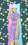 Michiko in a Chinese dress by Yithira