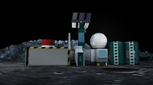 Moonbase render 3 by Peskywaabbit