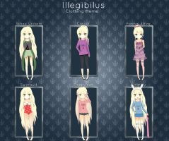 Illegibilus Clothing Meme with Claire! by carilica
