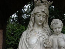 Mary and Jesus Stock 2 by HauntingVisionsStock
