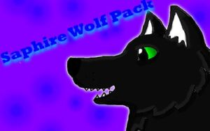 Saphire wolf pack banner thing by icewormie