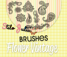 Flowers Vintage Brushes By StiloJuliii by StiloJuliii