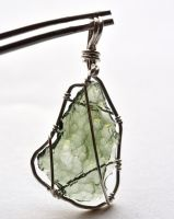 Moldavite pendant_bl by lamorth-the-seeker