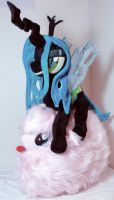 Chrysalis Atop her Pillow Pet by Cryptic-Enigma