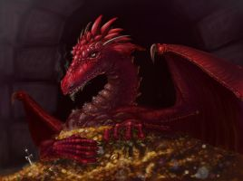 Smaug by scary-cherry