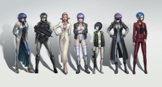 ghost in the Shell by N-ikegami