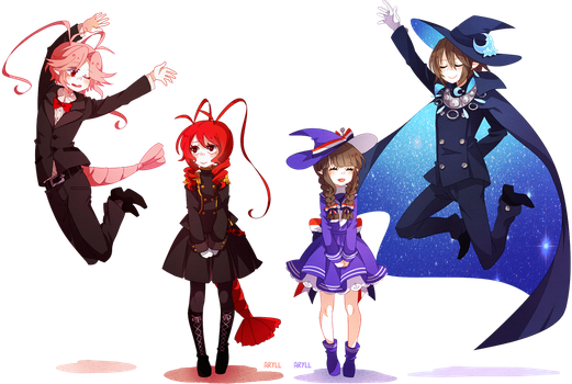 jumping wadanohara dads by aryllins