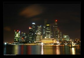 Singapore At Night by stevenjo