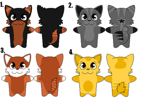 Pixel cat adopts-10 points EACH by SpunkyAdopts