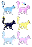 ~(Under 5 Points) Celestial Princess Kitties~ by Prettyxmouse