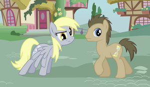 Dr. Whooves and Derpy by Pinkiepie4eva
