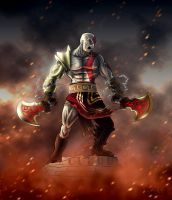 The Fury of Kratos by albundyland