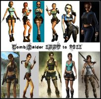 Tomb Raider 1996 - 2011 by TheLastSmile09