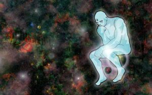 Dr Manhattan, Galactic Thinker by forstarvingeyes
