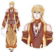 [Closed] Adopt Sketch 022 Gentle Gold by KMJ-Adopts