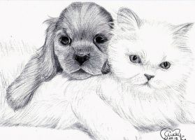 Puppy Friends Ballpoint by Cindy-R
