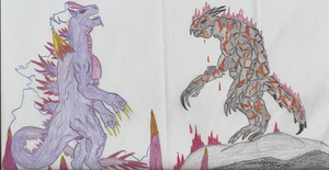 Space Godzilla vs. Obsidius 2 by Hopper9