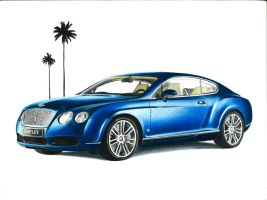 Bentley Continental GT DRAWING by xeonos