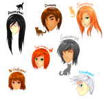 The humanized Warrior cats c: by yumisuu