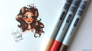 Copic 3 Marker Challenge by angelaaasketches