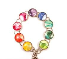 Melted Crayon Color Wheel Bracelet by annjepsen