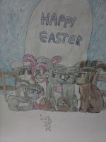 pie family during Easter by AlternateReality56